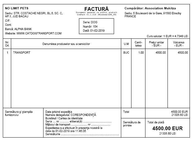 ROUMANIE : Arrivée du 2 février 2019 par camion (Report de la date initiale du 19 janvier) Florin12