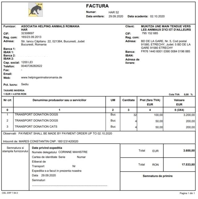 ROUMANIE  - Rapatriement du 3 octobre 2020 - Piatra & Orastie Har_5210