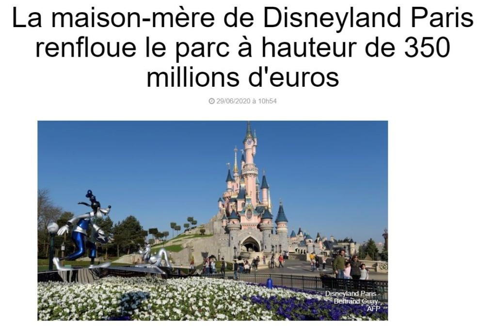 Renflouement de Disneyland Paris par TWDC à hauteur de 350 millions d'euros 110