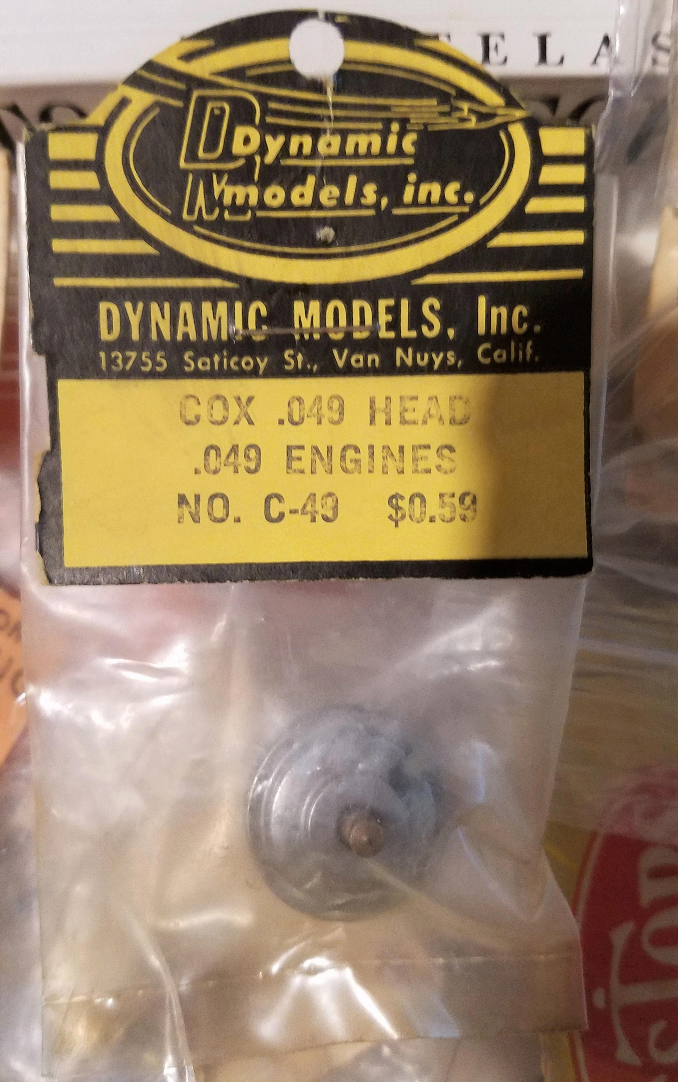 Cox engine parts SOLD to Mark from Oregon 20181113