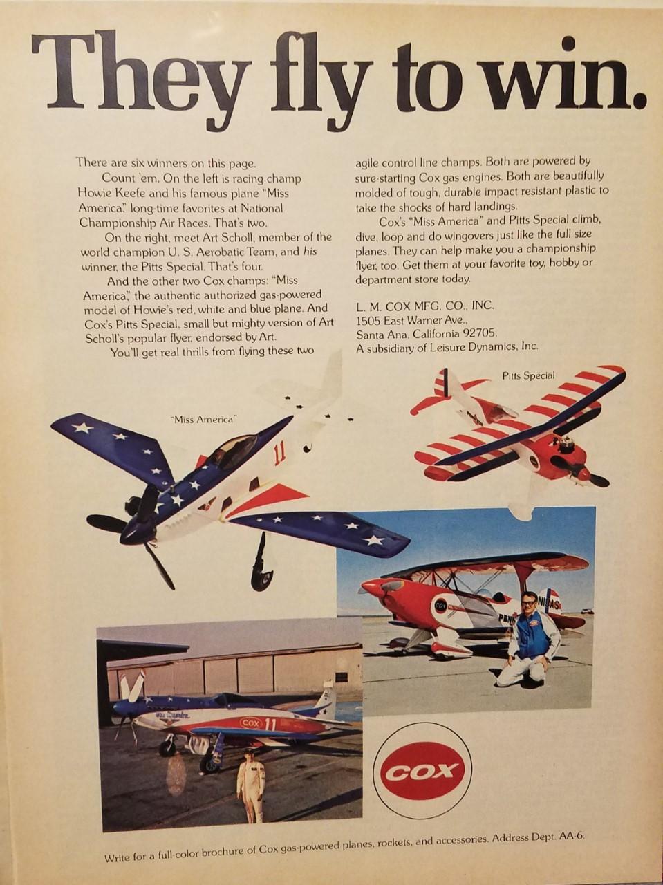 Art Scholl Cox Planes- Super Chipmunk & Pitts Thumbn11