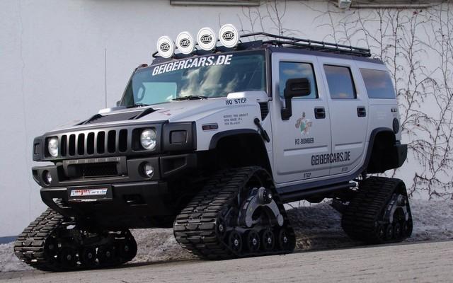 Hummer H2 Bomber : Le SUV à chenilles  04264310