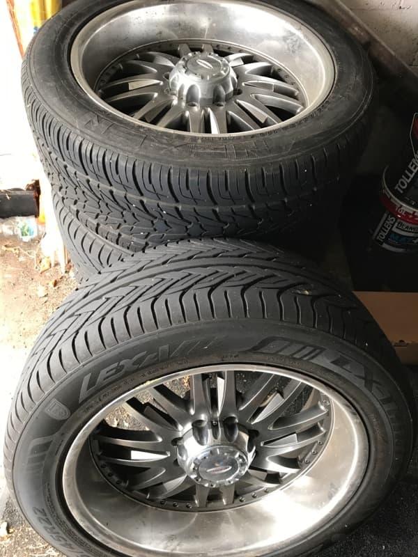4 jantes/pneus 345/50/22 , paire marche-pieds chrome et 6 éme siège pour Hummer H2 47503910