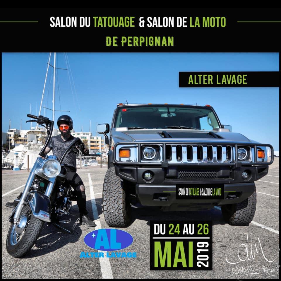 Hummer H2 Tattoouge & Urban au Salon du tatouage et salon de la moto de Perpignan du 24 mai au 26 mai 2019 au  parc des expositions de Perpignan 53246810
