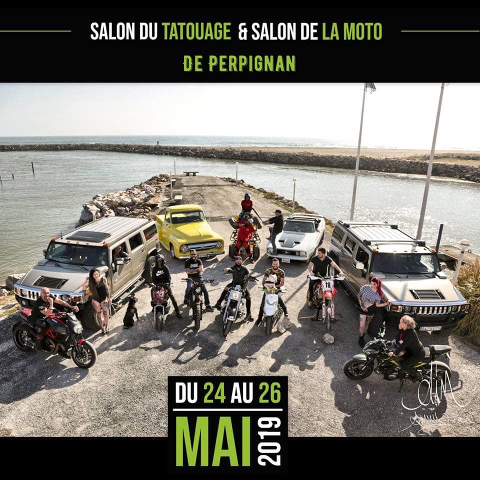 Hummer H2 Tattoouge & Urban au Salon du tatouage et salon de la moto de Perpignan du 24 mai au 26 mai 2019 au  parc des expositions de Perpignan 53435010