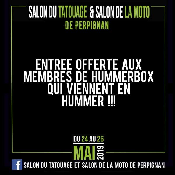 Hummer H2 Tattoouge & Urban au Salon du tatouage et salon de la moto de Perpignan du 24 mai au 26 mai 2019 au  parc des expositions de Perpignan 53453010