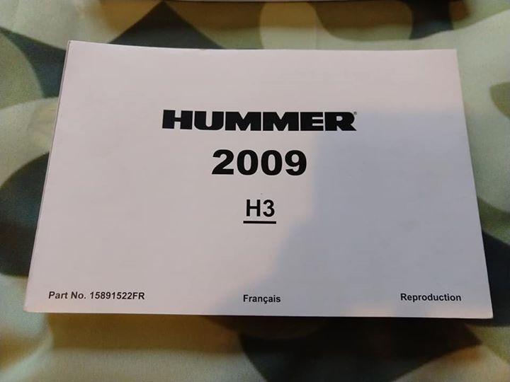 Manuel atelier , manuel utilisateur pour votre humvee Hummer H3 H2 H1  58441510