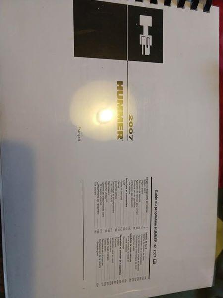 Manuel atelier , manuel utilisateur pour votre humvee Hummer H3 H2 H1  58442410
