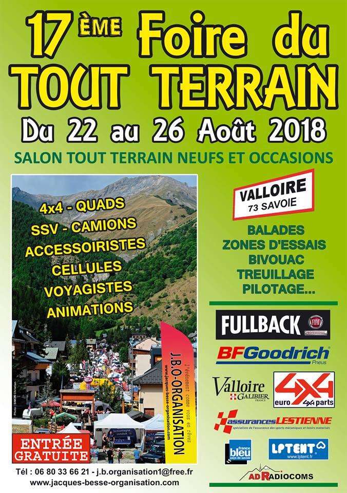 Rdv à la foire du tout-terrain à Valloire(73450) samedi 25 & dimanche 26 août 2018 avec le Club Hummerbox Affich10