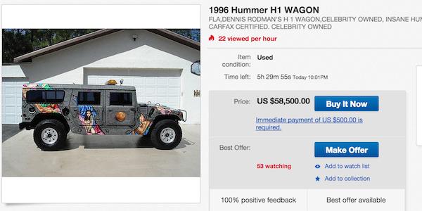 Qui veut du curieux Hummer de Dennis Rodman ? Hummer25