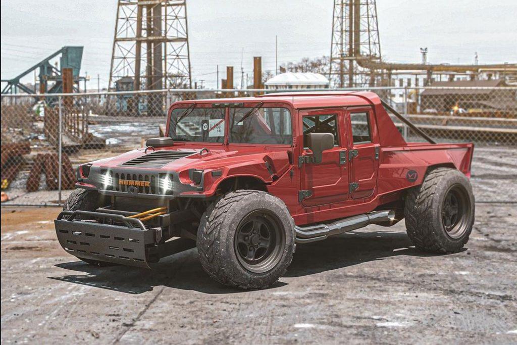 Ce à quoi pourrait ressembler un pick-up Hummer H1 d'aujourd'hui  Hummer29