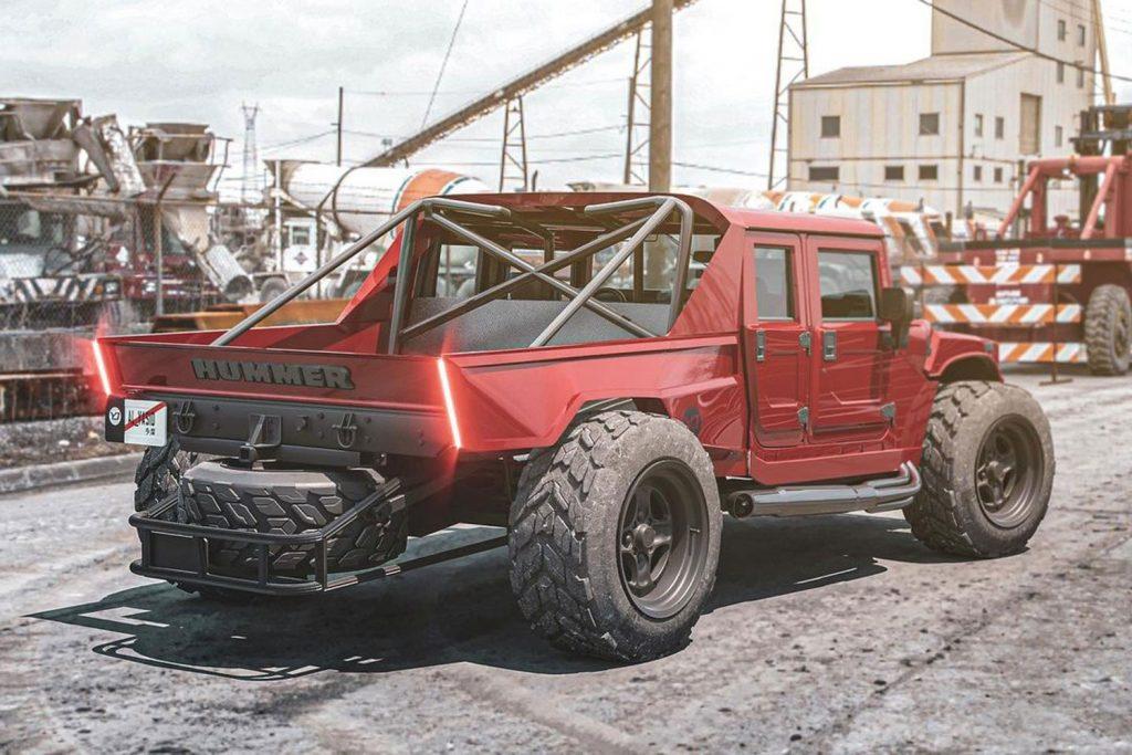 Ce à quoi pourrait ressembler un pick-up Hummer H1 d'aujourd'hui  Hummer30