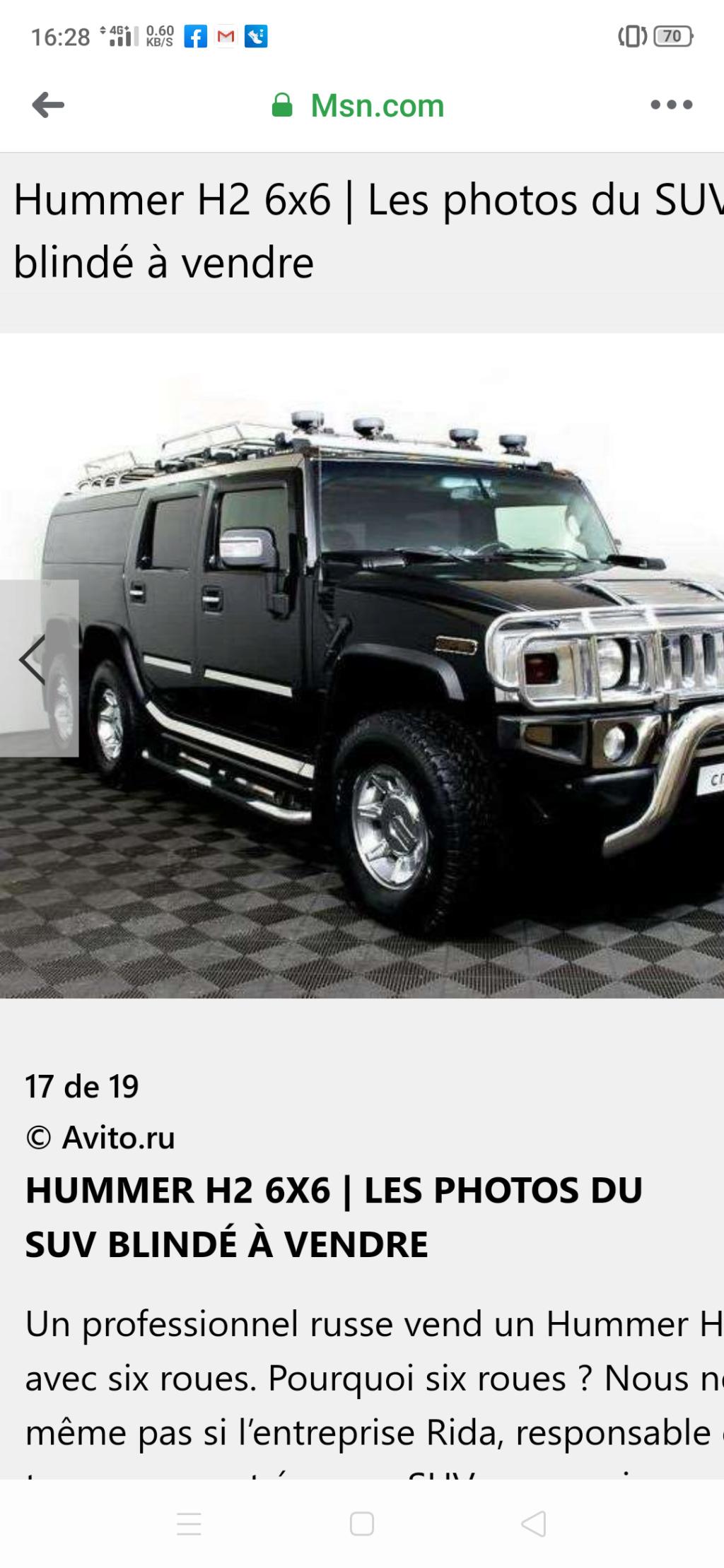 Hummer H2 6x6 : Jamais trop de chrome pour ce SUV blindé ☠️☠️☠️ BLINDÉ À VENDRE Screen16