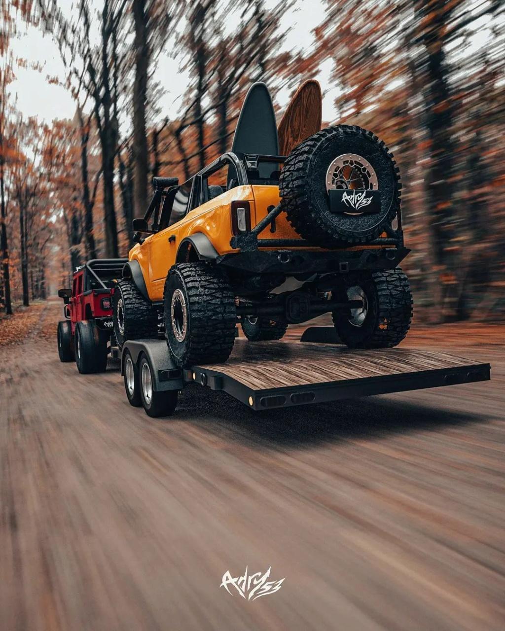 Mettez 2 TurboTurbo dans  le Hummer H1 Alpha et ajouter le nouveau Bronco en remorquage pour une embarcation de OUF Twin-t11