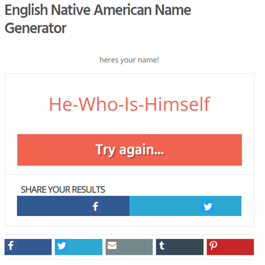 Quiz : What is your native american name ? Captur10