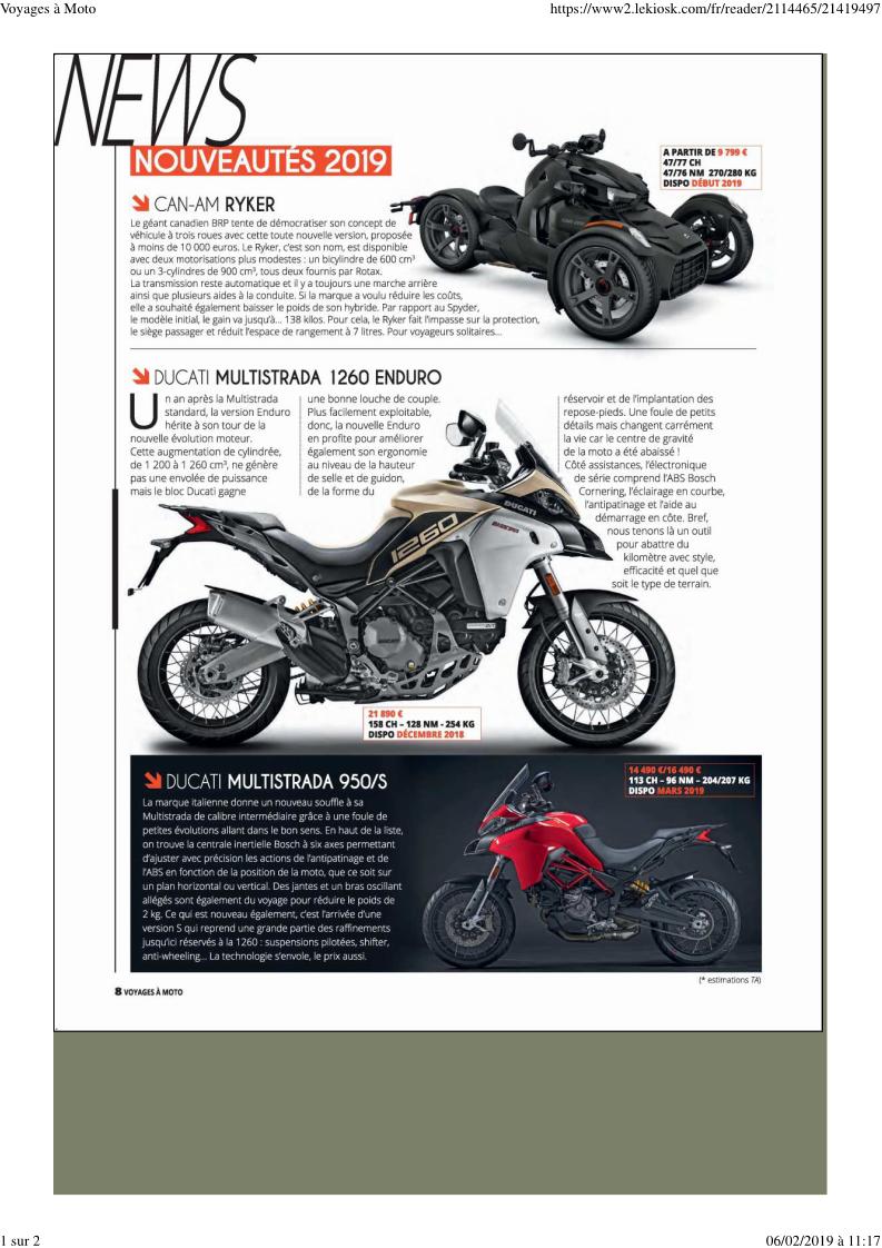 "- Magazine ""Voyages à moto"" Docume10"