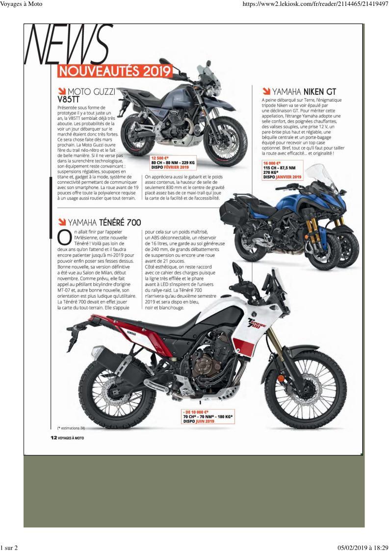 "- Magazine ""Voyages à moto"" Voyage11"