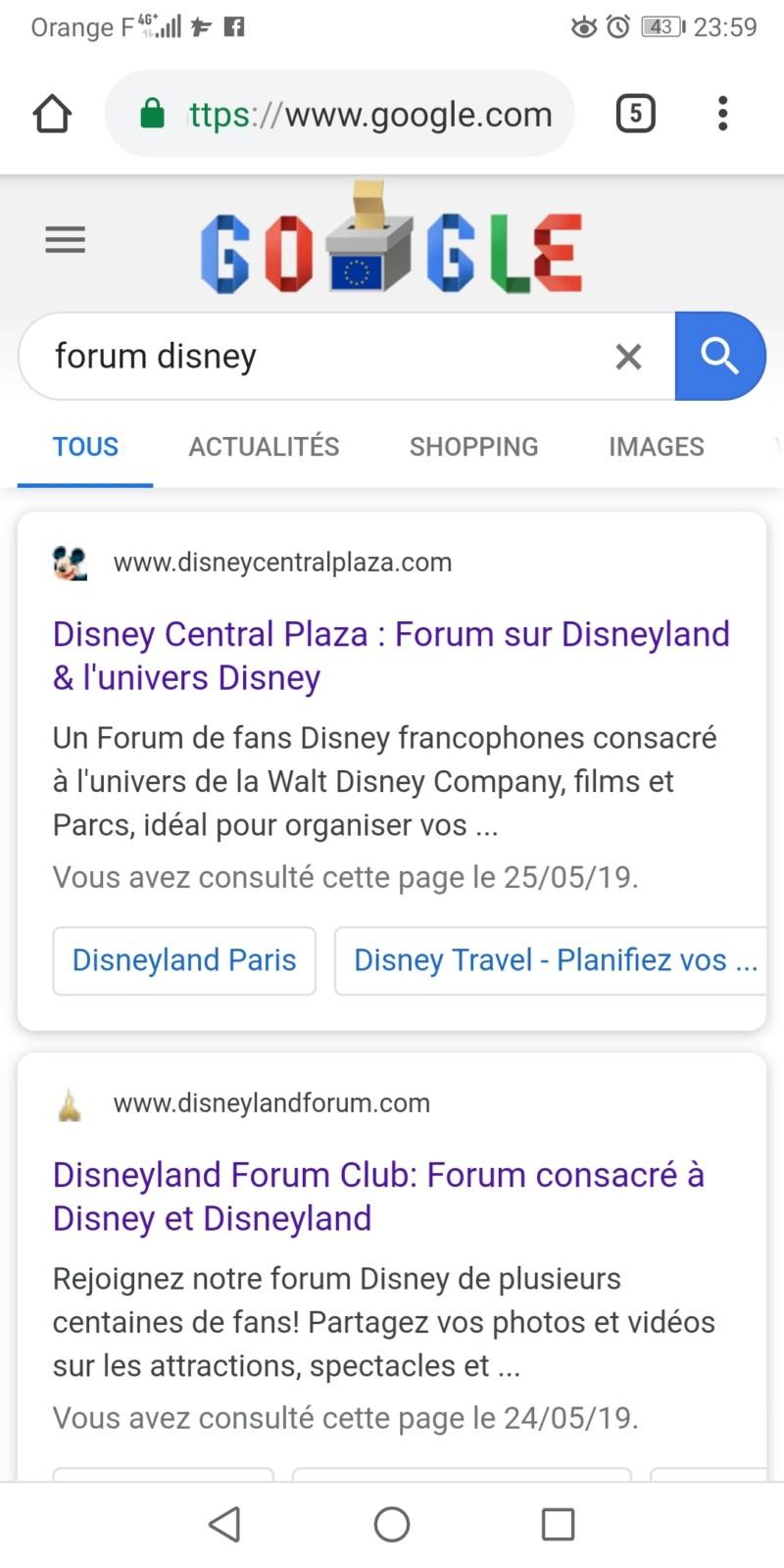 La favicon du forum affichée dans Google 20190512
