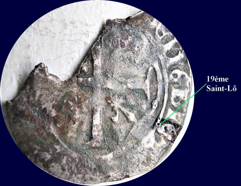 Fragment peut-être encore exploitable : Blanc de Louis XI, frappé à Limoges à confirmer... 19zome10