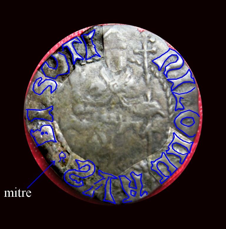 Double denier provençal, Archevêché d'Arles, famille Cibo ... Arles_10