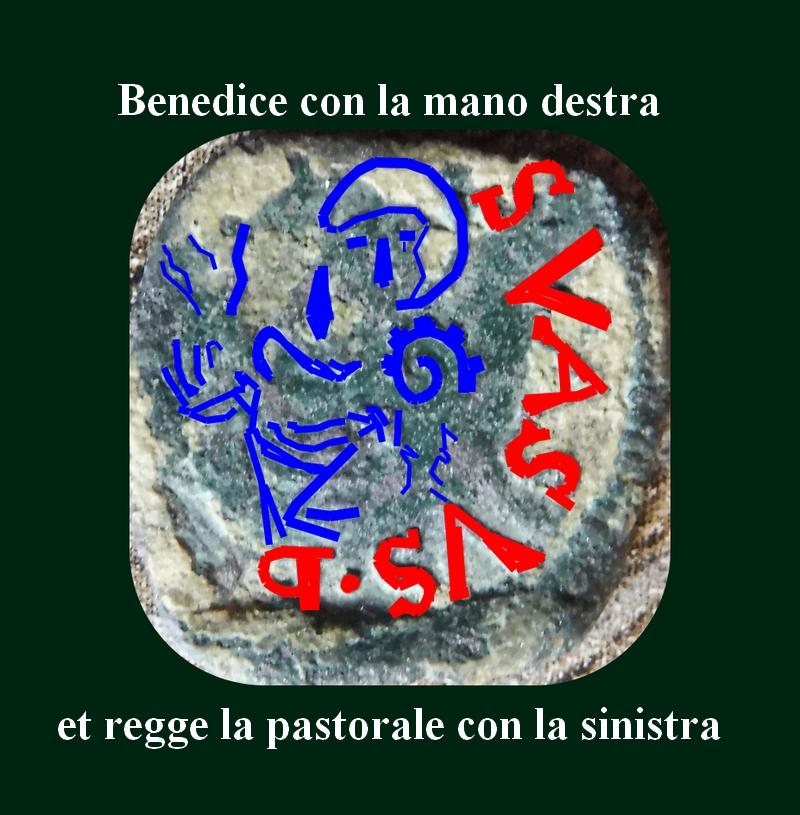 Monnaie 16eme :  Guglielmo Gonzaga, quarto con S. Evasio e busto Benedi10