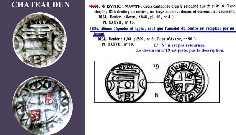Monnaie féodale argent Chatea10