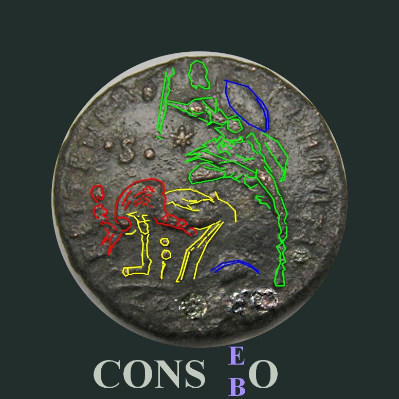 Majorina réduite de Constantius II - FEL TEMP REPARATIO Cons10