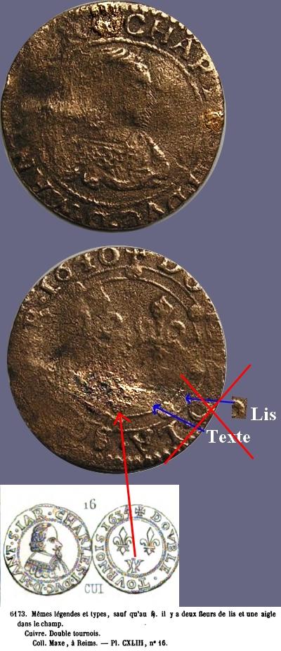 Denier tournois de Charles II de Gonzague 1640 Dd_cha11