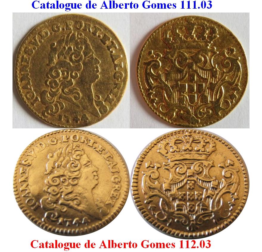 1/2 escudo Joao V 1744 Portugal : Poids faible ...  Demi_e10