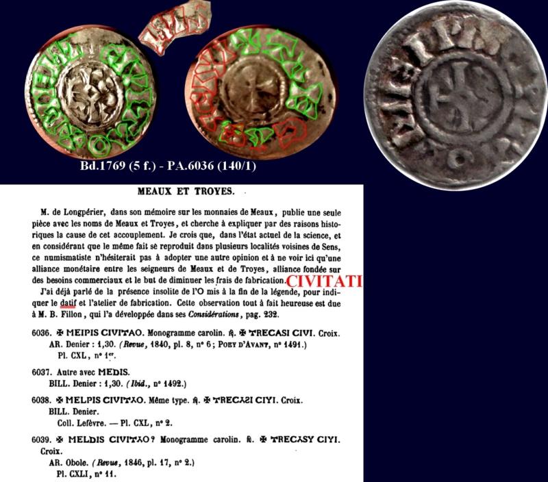 Denier Meaux/Troyes (11e siècle) Denier12
