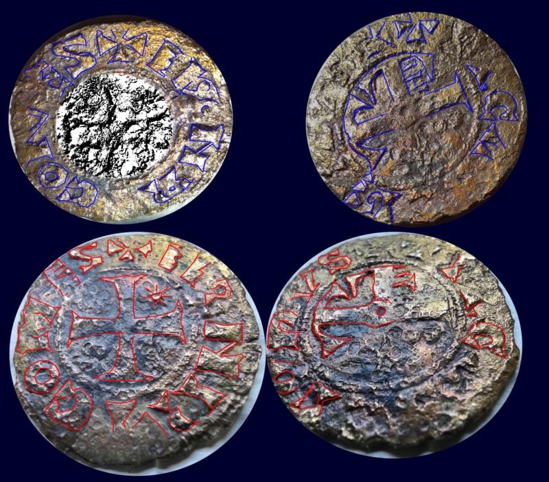 Denier de Billon d'Henri II de Troyes 1180-1197 (PA 5954) Jean-l18