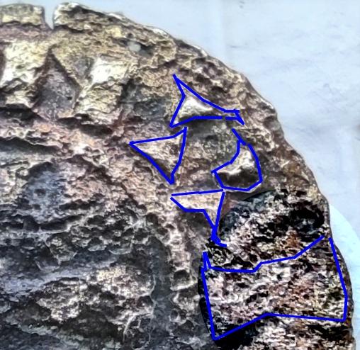 Denier de Billon d'Henri II de Troyes 1180-1197 (PA 5954) Jean-l19