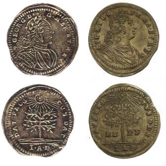 Jeton Nuremberg George II roi de Grande-Bretagne. Kirish11