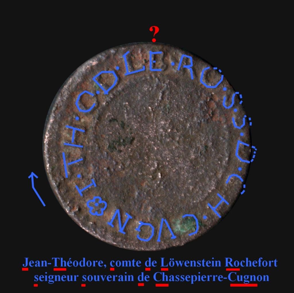Double tournois ardennais pour Jean-Théodore de Löwenstein, seigneur de Cugnon ... Lzwens10