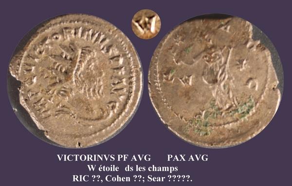 Antoninianus pour Victorin W étoile Mbac_210
