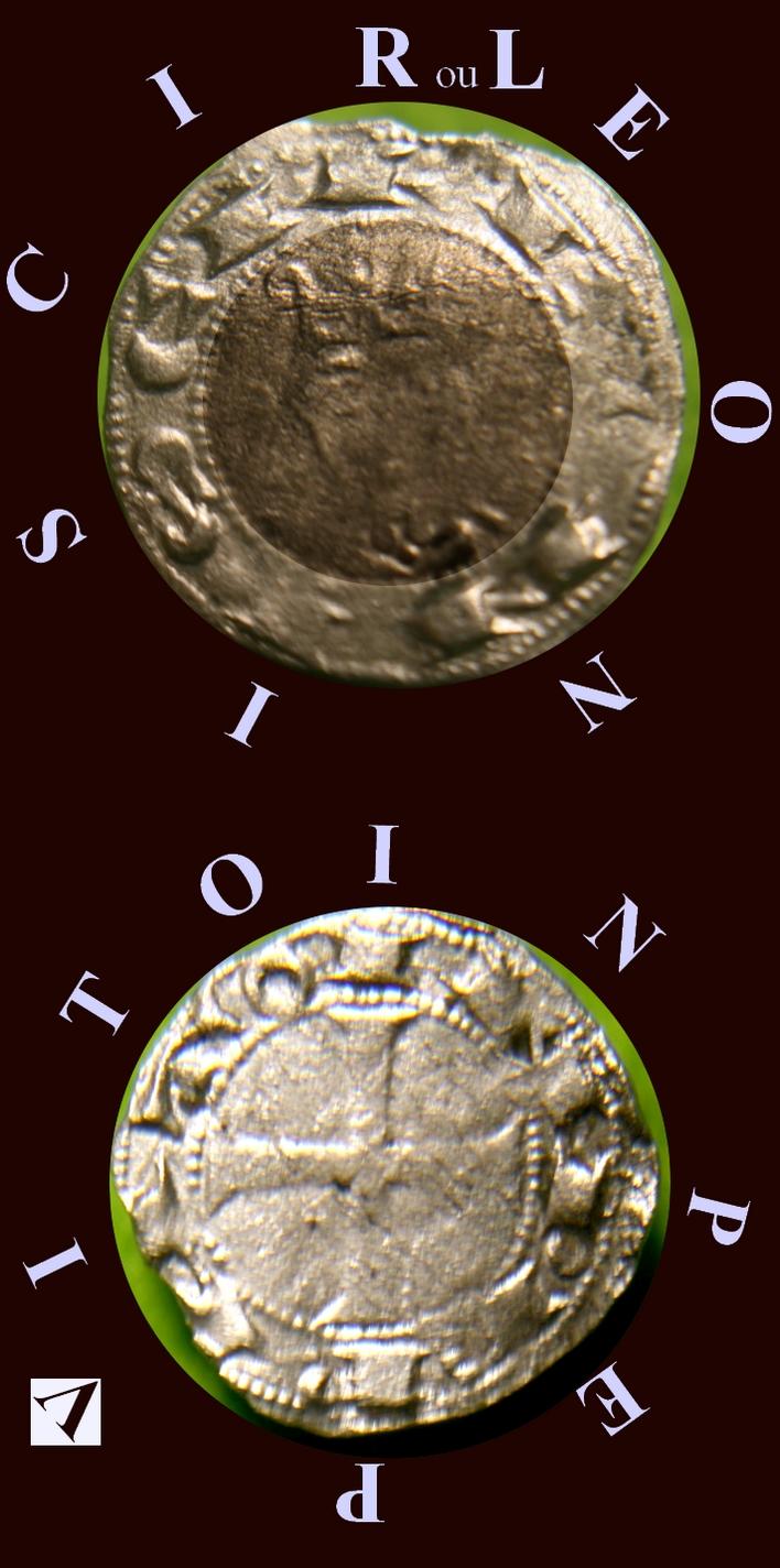 """denier d'Alphonse VII, empereur """"de toutes les Espagnes"""", roi de Castille et Léon (1105-1126-1157) Nzomau11"""