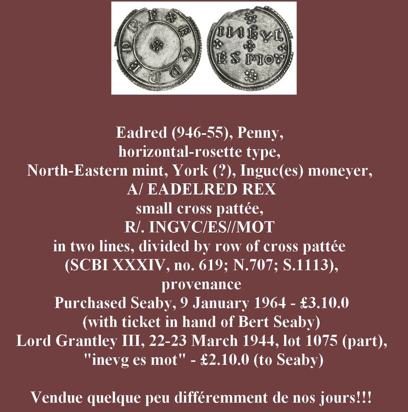 Un penny anglais d'Eadred (946-955) ... Pirago13