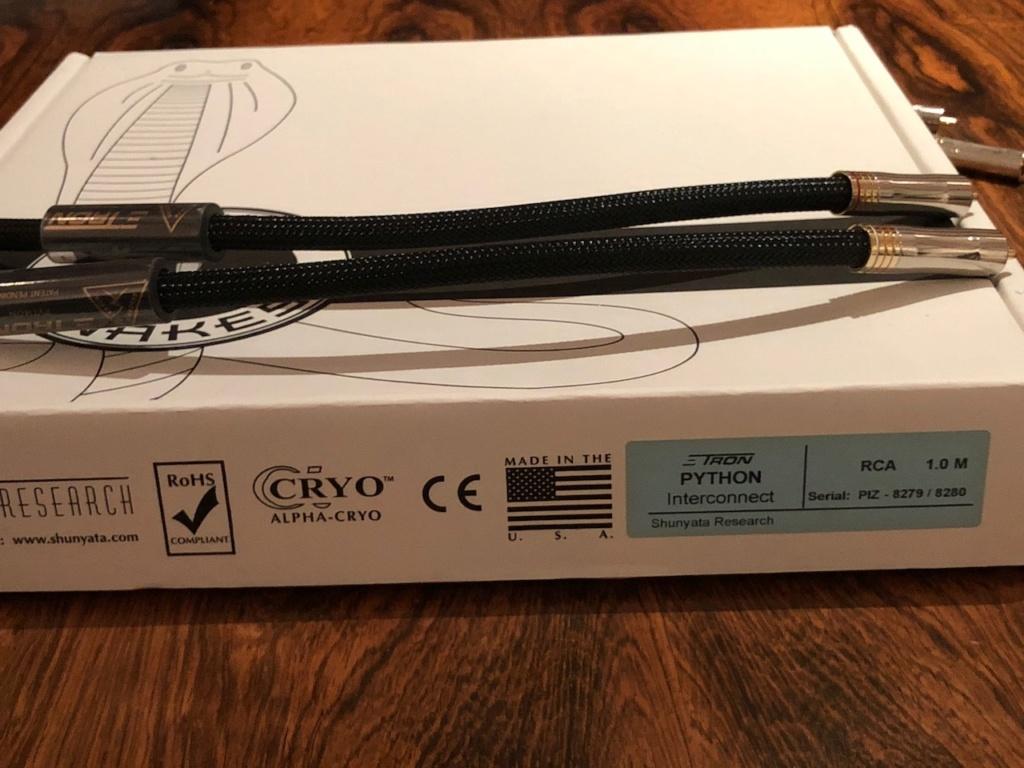 Shunyata Python Zitron speaker cables + interconnects Img_3315