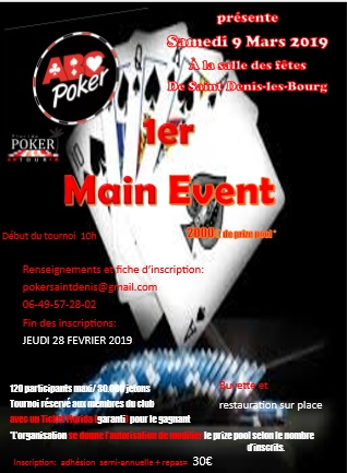 MAIN EVENT 9/03/2019 Affich10