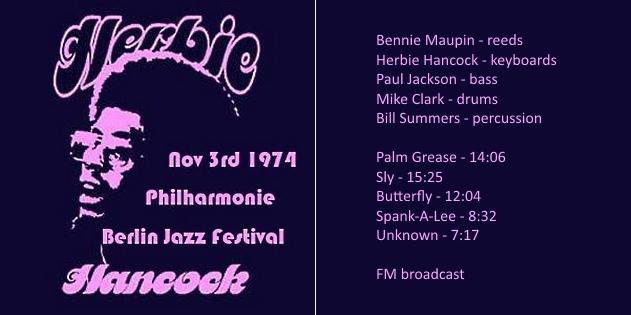 """Le """"jazz-rock"""" au sens large (des années 60 à nos jours) - Page 14 Herbie13"""