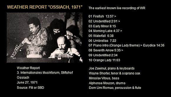 """Le """"jazz-rock"""" au sens large (des années 60 à nos jours) - Page 6 Weathe11"""
