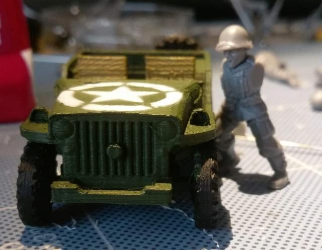 Diorama Willys Jeep impression 3D Img_2018