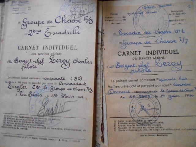 4 carnets vol 1937/46 d un as de l aviation francaise  Dscn1814