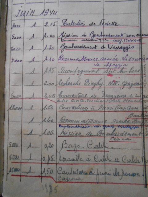 4 carnets vol 1937/46 d un as de l aviation francaise  Dscn1819