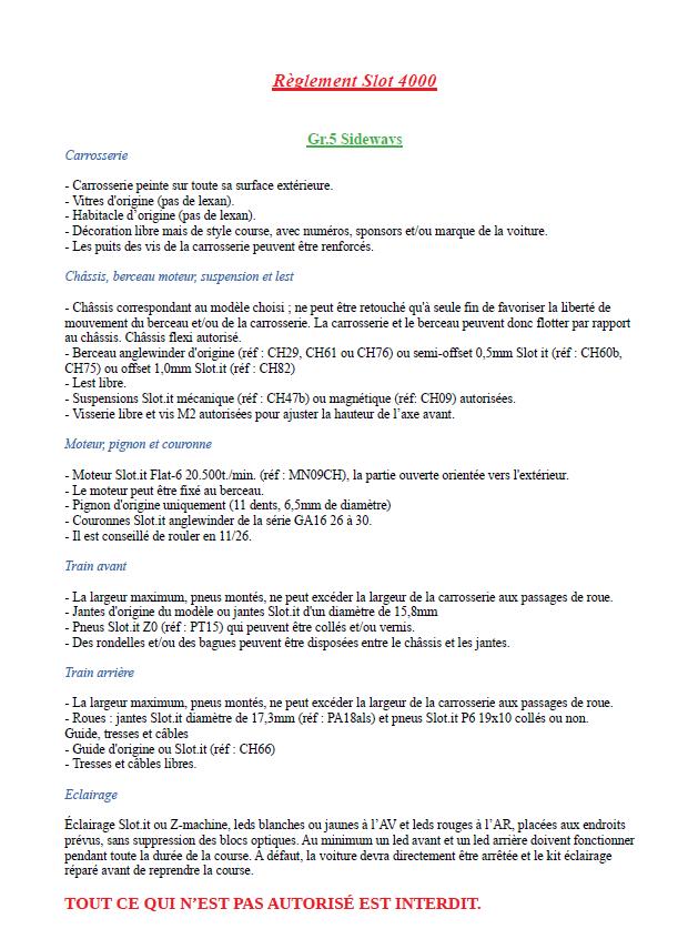 Calendrier et règlements 2020 Captur31