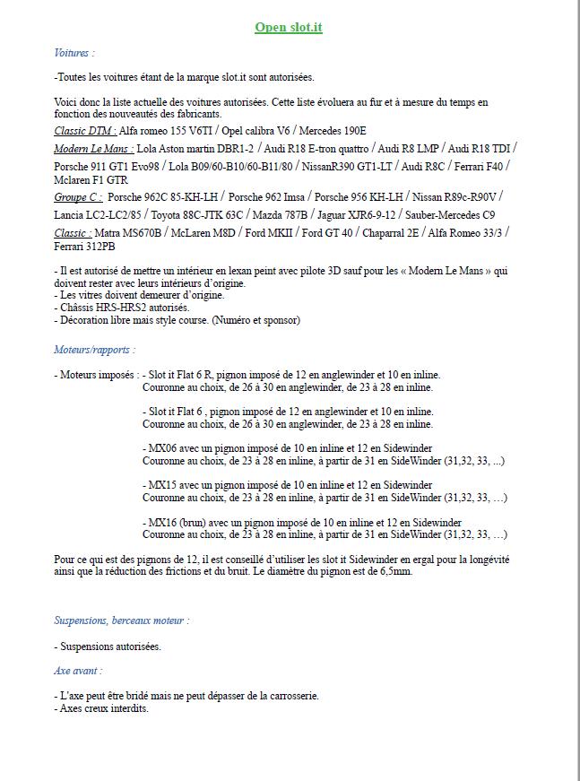 Calendrier et règlements 2020 Captur32