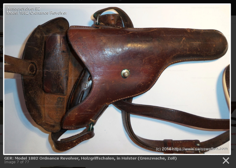 Trois étuis pour le revolver Suisse 1882 ?? Douane10
