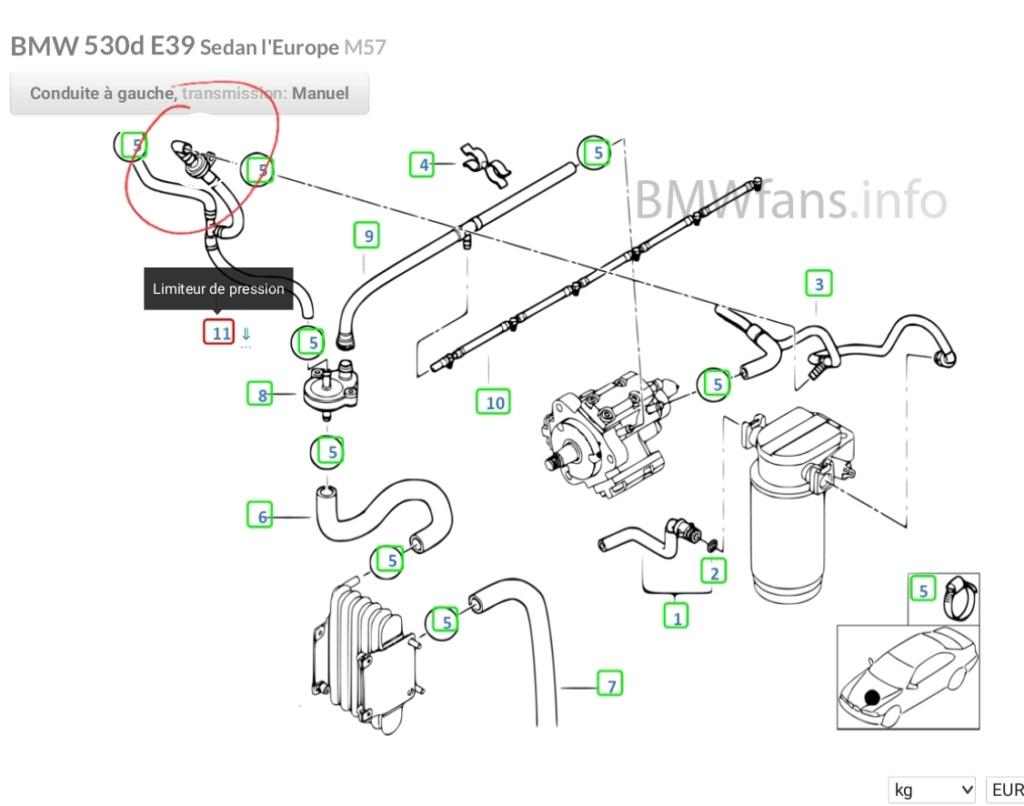 [ BMW E39 530d M57 an 2001 ] Renseignement pièce  20200311