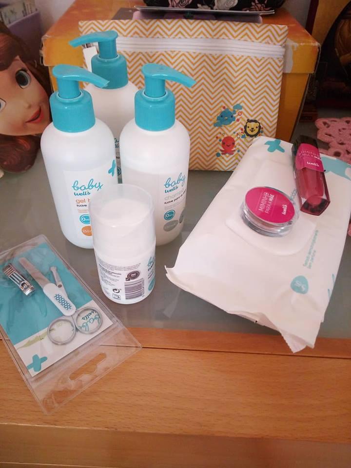 Amostras Wells - conjunto de 6 produtos Baby Well's e supresa 37943210