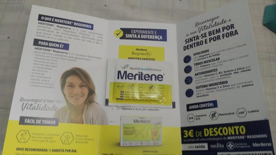 Amostra Meritene Regeneris-Saqueta mais vale de 3 Euros 40929010
